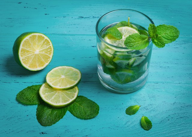 Mint and lemon slices add a refreshing hint to water