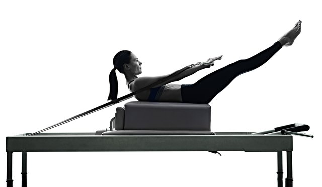 Reformers add resistance to traditional Pilates exercises.