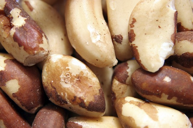 A close-up of brazil nuts.