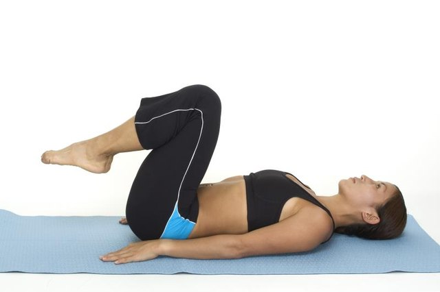 Reverse crunches start in a sit-up-like position.