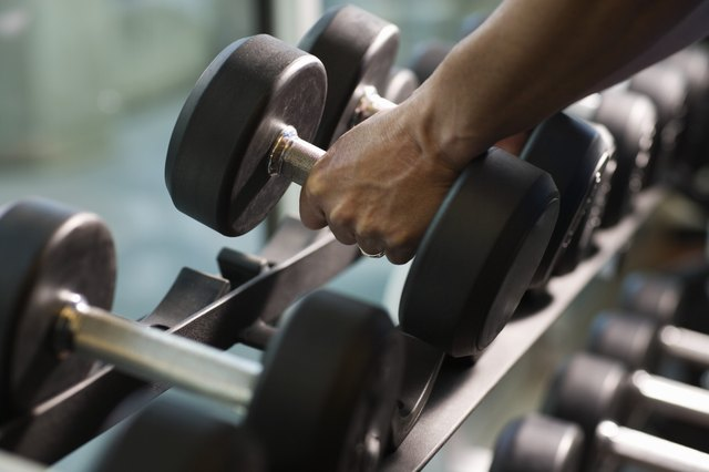 Lifting weights will help you burn calories.