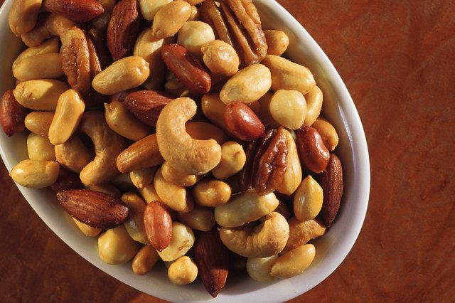 A bowl of roasted nuts.
