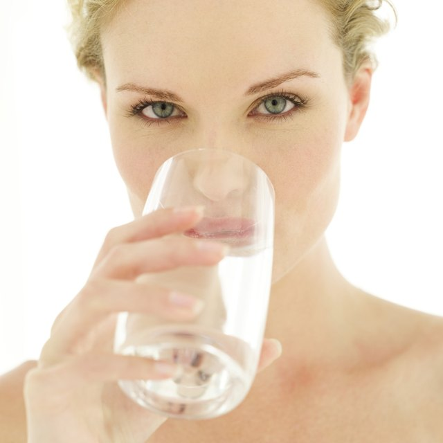 Start hydrating by sipping water.