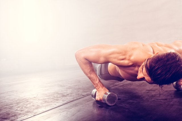 The soreness you feel when you start doing push-ups is a sign that you're building muscle.