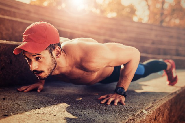 Fit push-ups in anywhere.