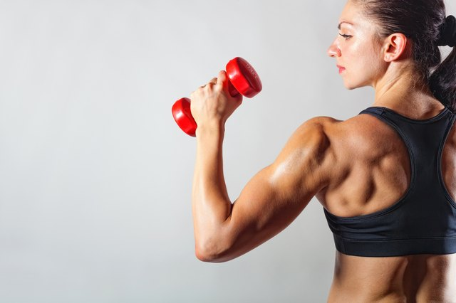 Make external rotation exercises harder by using a dumbbell and moving your elbow out away from your side.