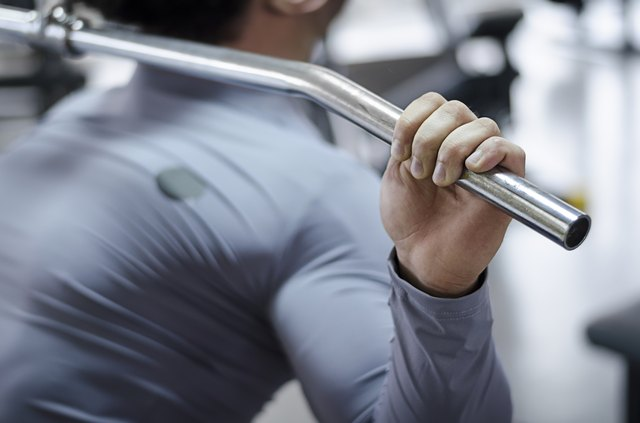 The lat pulldown works your arm as well as back muscles.