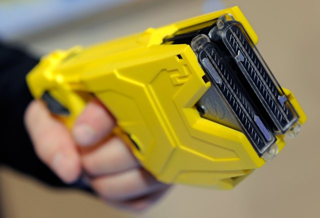A close-up of a taser gun.