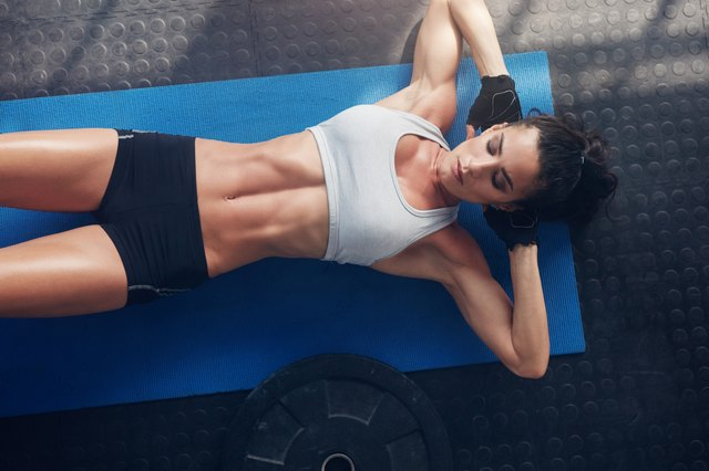The basic ab crunch prepares you for more challenging moves.