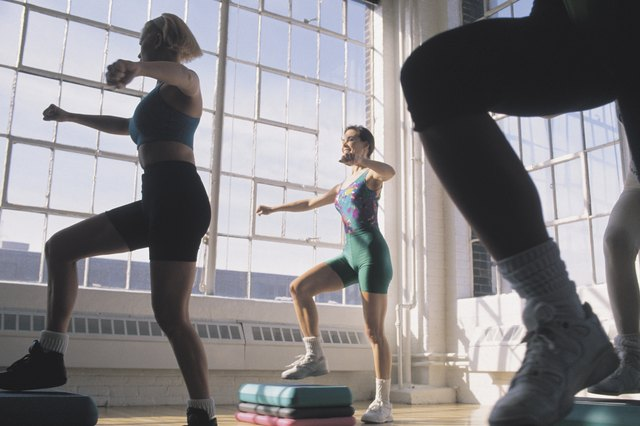 Perform exercise such as step aerobics.