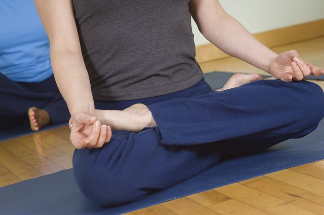 Lotus pose is widely used for meditation.