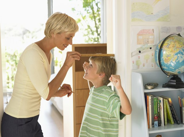 Measuring your child's height is an ideal way to get the learning about measurement started.