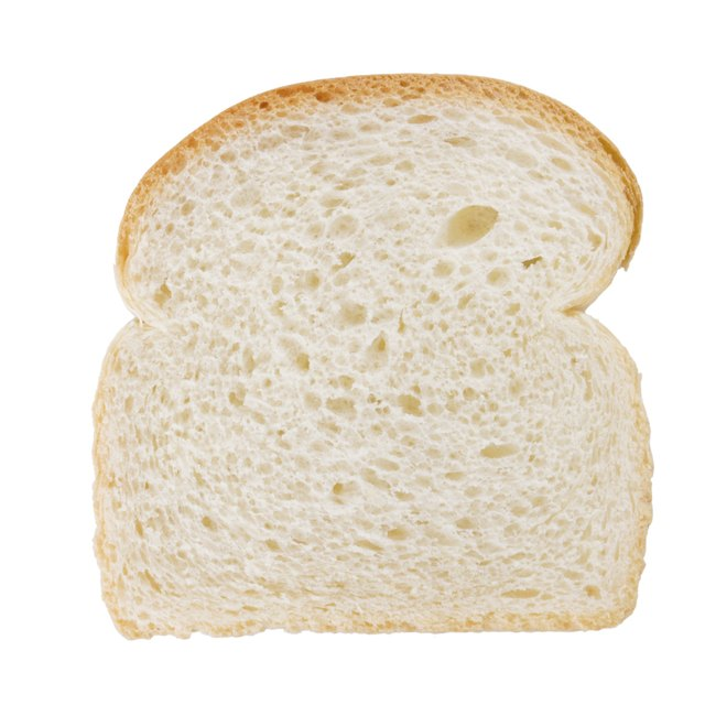 White bread is made from refined flour.