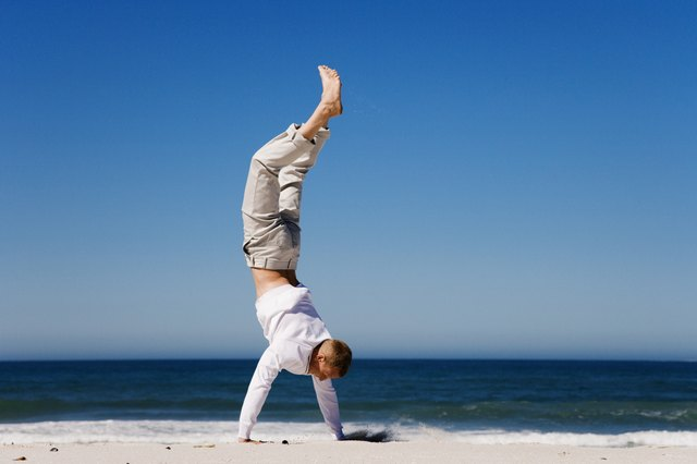 Do a handstand to directly improve circulation to your face.