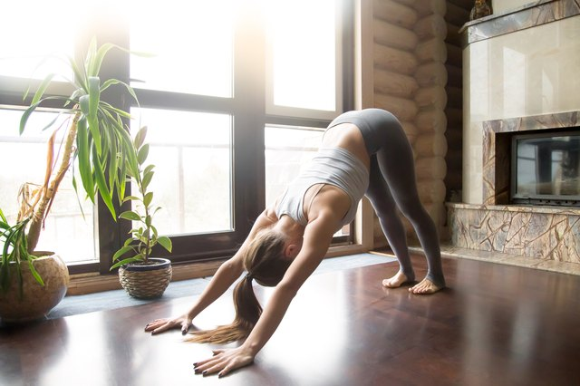 The ever-faithful Downward Dog can be a remedy for sciatica.