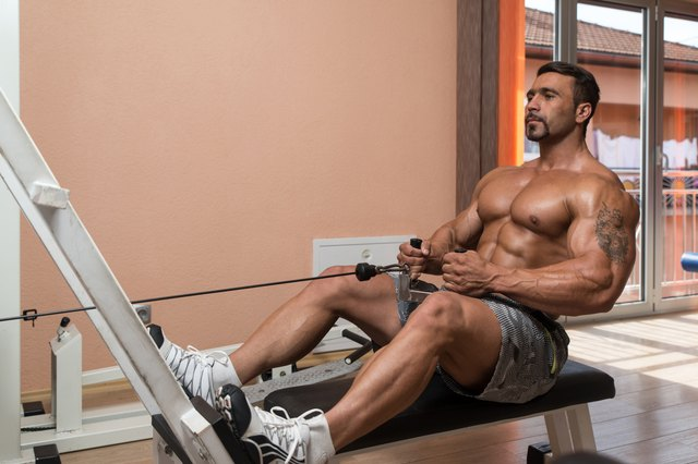 A seated cable row targets your middle back.