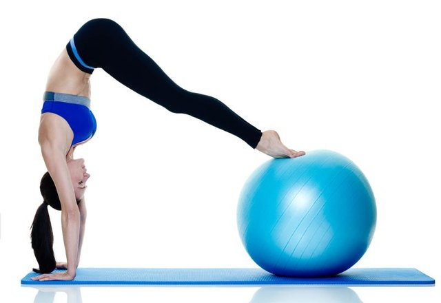 Stability balls are great for working the core.