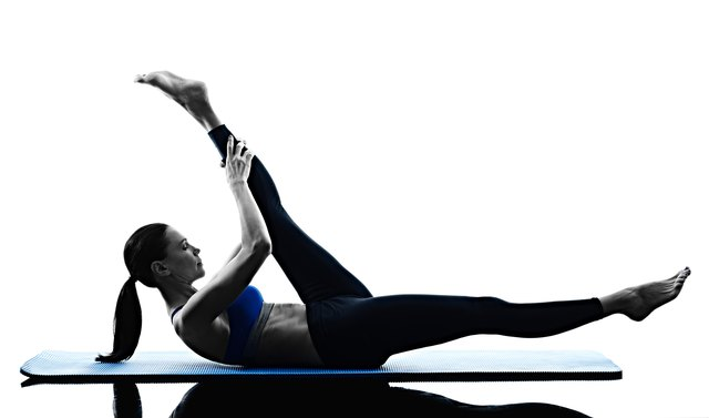 The single straight-leg stretch is part of the ab series.