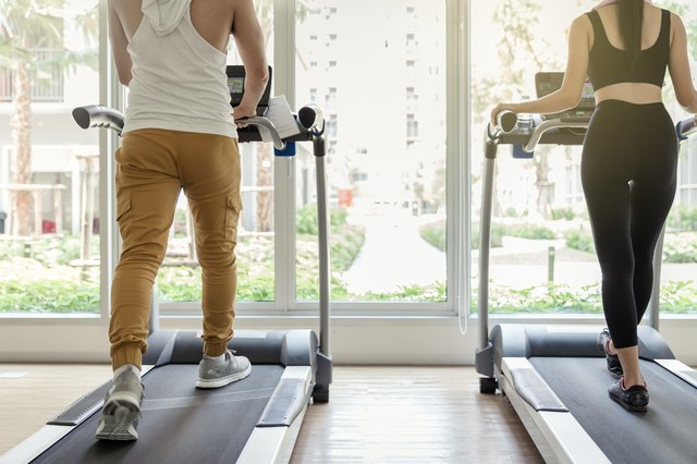 The treadmill allows you to control your pace.