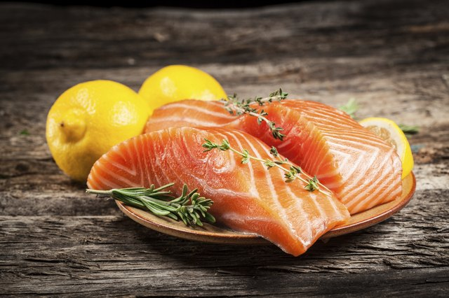 Salmon has Omega 3 fatty acids.
