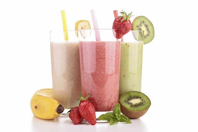 Fruit smoothies.
