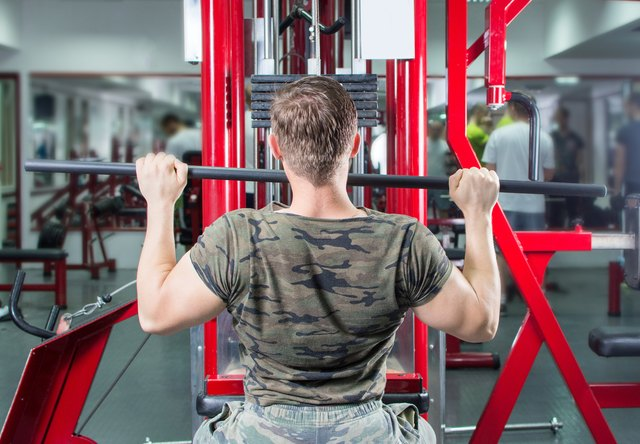 Lat pull-downs target the latissimus dorsi muscle.