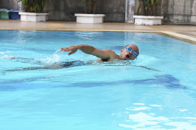 Swimming provides a good aerobic and cardiovascular workout.