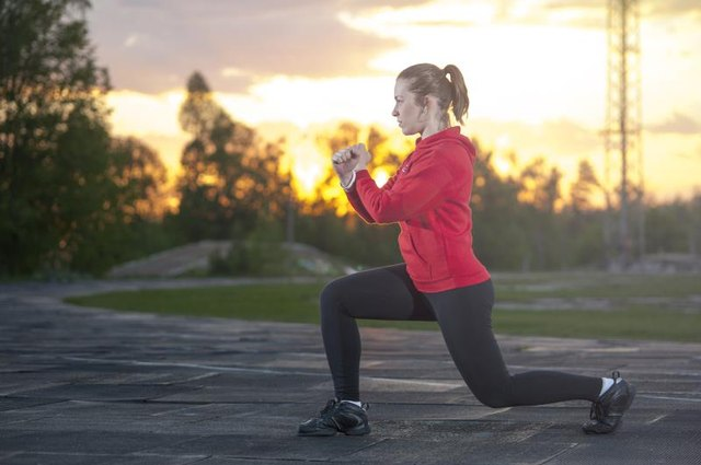 Split squats are a fantastic workout for your butt and thigh muscles.
