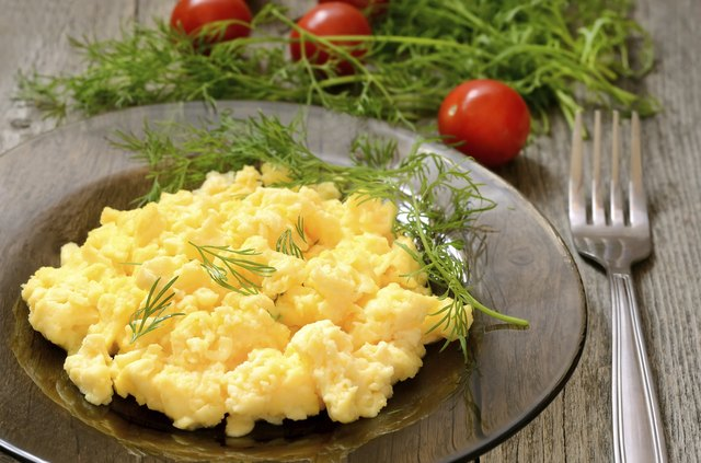 Scrambled eggs for breakfast can be made with egg whites.