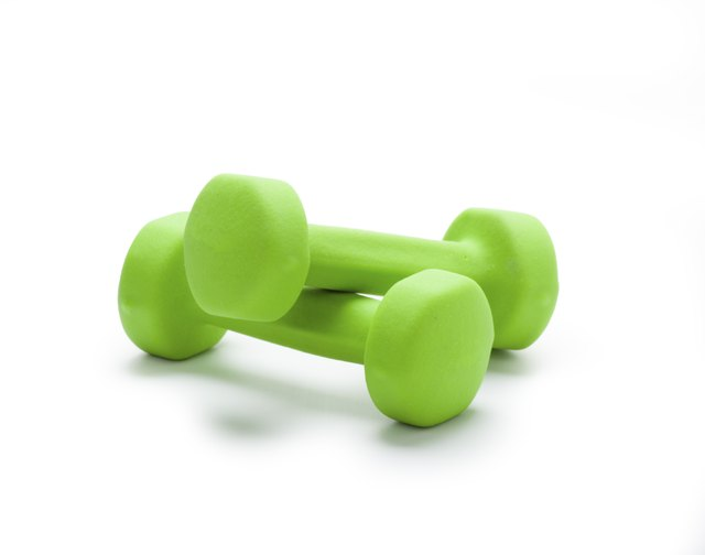 Dumbbells can be used to add resistance to good morning exercises.