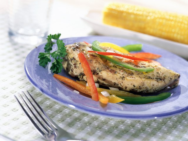 Chicken breasts are high in protein and healthy for you.
