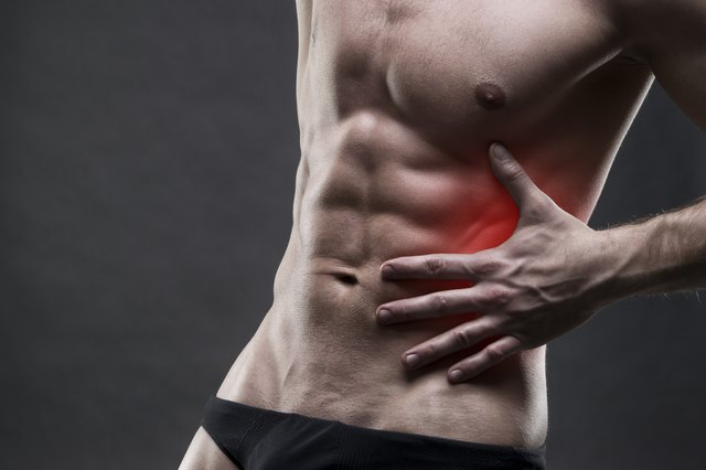 Oblique tears can be painful and mimic symptoms of a broken rib.