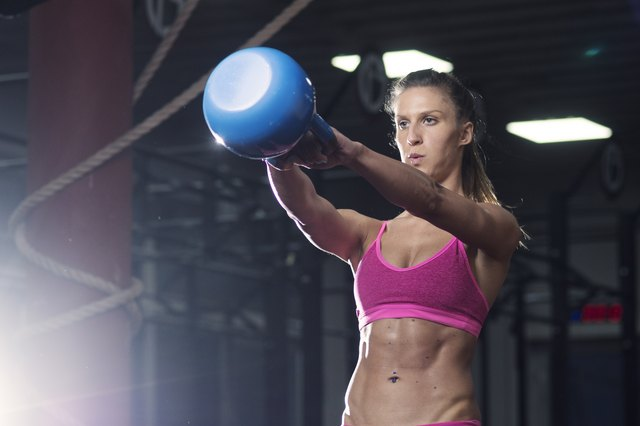 The kettlebell swing also targets your abs.