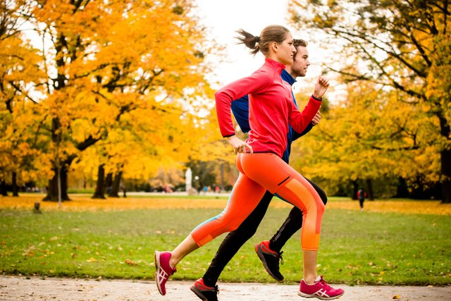 Jogging expends far more energy than push-ups.