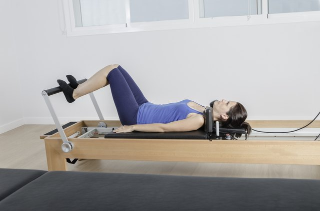 The AeroPilates machine is a traditional Reformer with a cardio rebounder attachment.