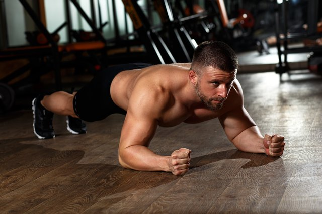 You can do isometric push-ups by holding your position halfway down.