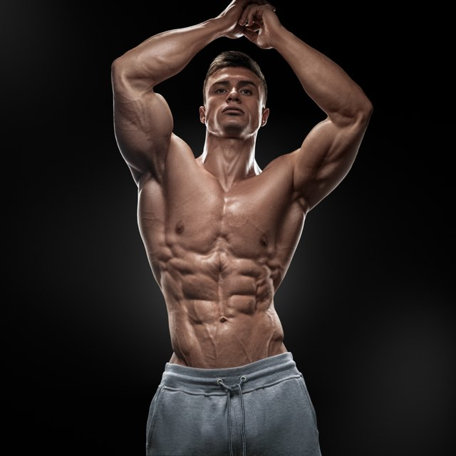 The chiseled abs of a bodybuilder come from training and diet.