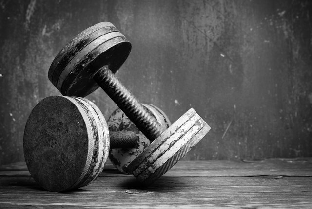 Dumbbells are a better choice for size.