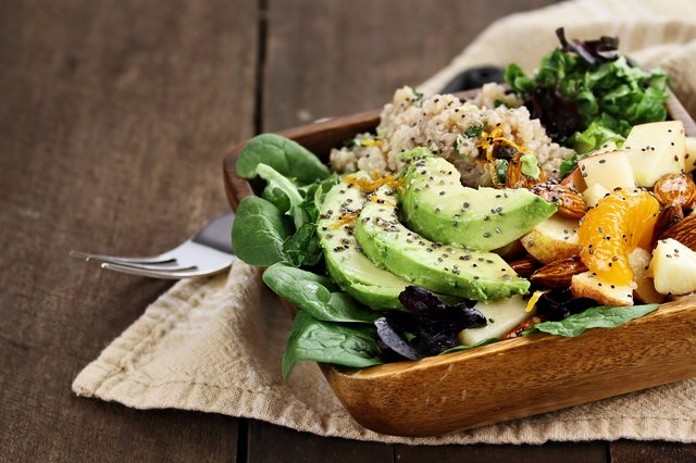 Avocados, quinoa and greens are healthy foods to regularly include.