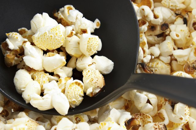 Air-popped popcorn is a good, low-calorie snack.