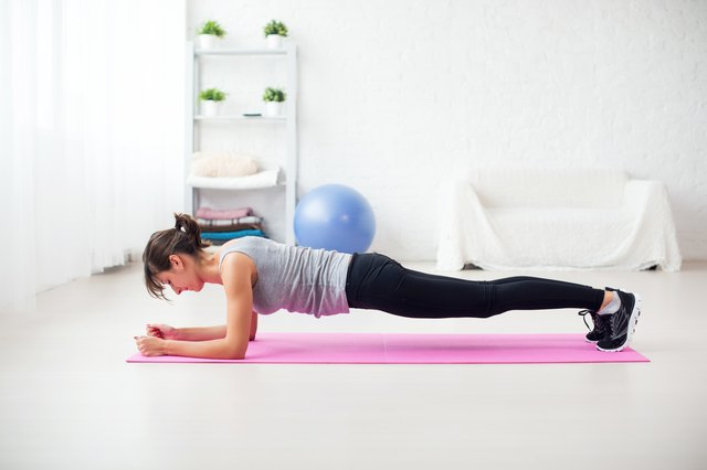 Start with a static plank, and then advance to the lateral twisting plank.