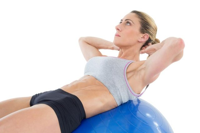 A stability ball challenges your balance.
