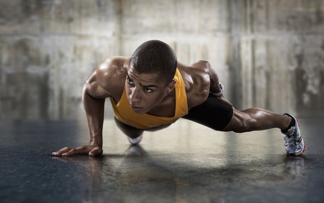 One-armed push-ups increase the intensity of the exercise.