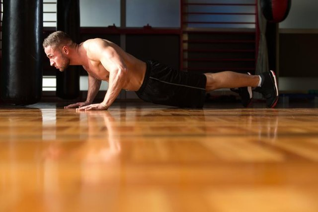 Push-ups are an all-around exercise that strengthens the upper back.