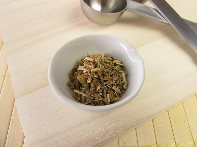 centuary herb in small bowl
