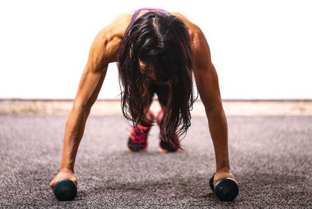 Give you upper body a bit of elevation for a more intense push-up.