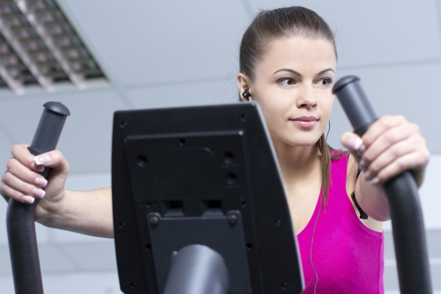 Elliptical trainers use a lot of muscles in the legs.