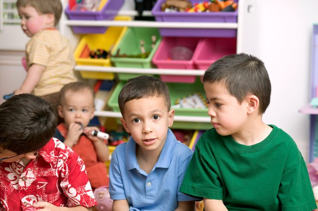 Regular contact with peers in a group setting reduces the stress for both of you on his first day of kindergarten.