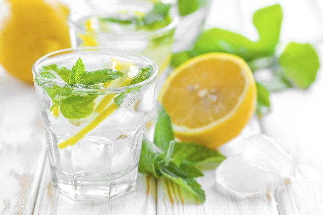 Add lemon and mint to your water to vary the flavor.
