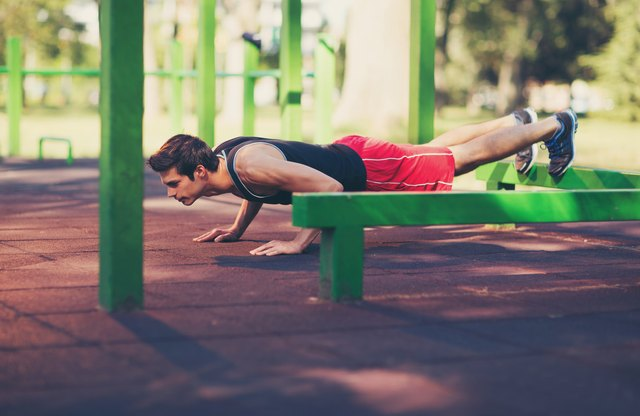 Opportunities to do a decline push-up are everywhere.